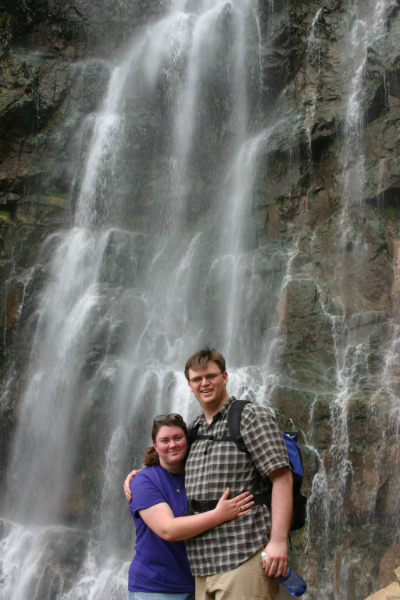 Hike up to the water fall in Waterfall Canyon the week before Aaron\'s wedding