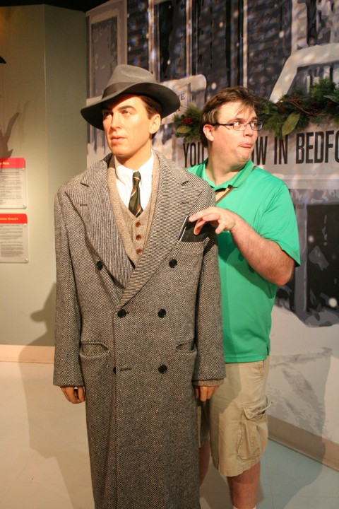 Pulling a fast one on Mr. Stewart. For some reason I find this idea of pickpocketing hilarious and tend to do it more than once per visit to the wax museum.